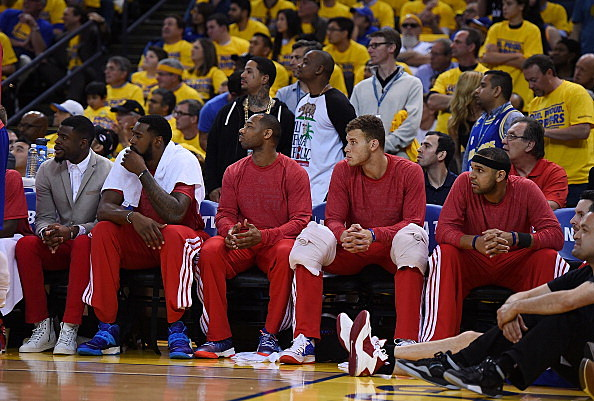 Los Angeles Clippers silent protest vs Golden State Warriors, 04-27-2014