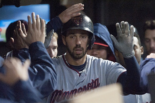 Chris Colabello, Minnesota Twins vs Cleveland Indians