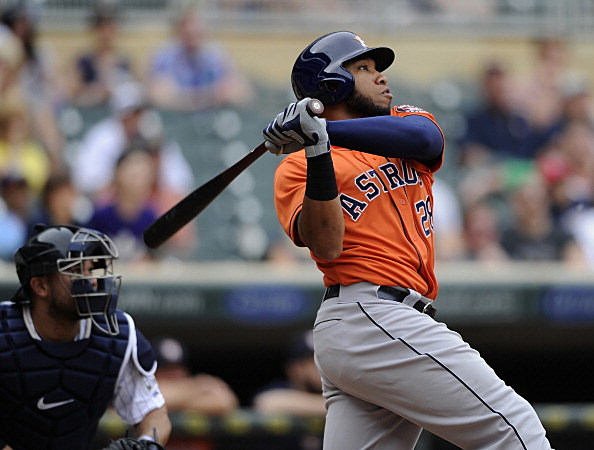 Jon Singleton, Houston Astros vs Minnesota Twins
