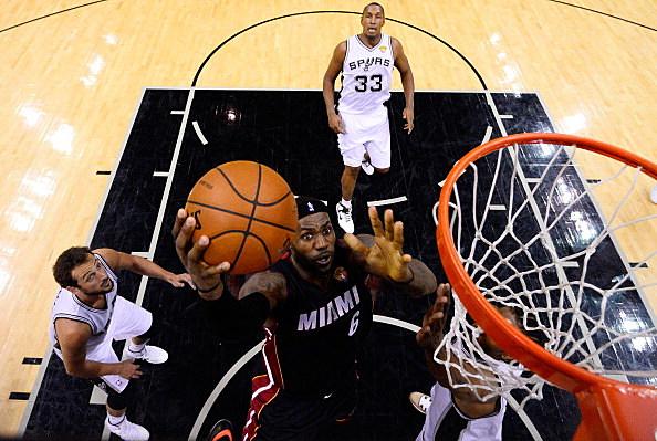 LeBron James, Miami Heat vs San Antonio Spurs, 2014 NBA Finals, Game 2