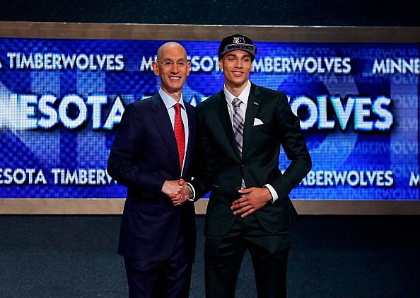 Zach LaVine, UCLA, Minnesota Timberwolves and NBA Commissioner Adam Silver, 2014 NBA Draft