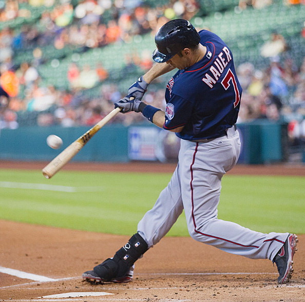 Joe Mauer, Minnesota Twins vs Houston Astros
