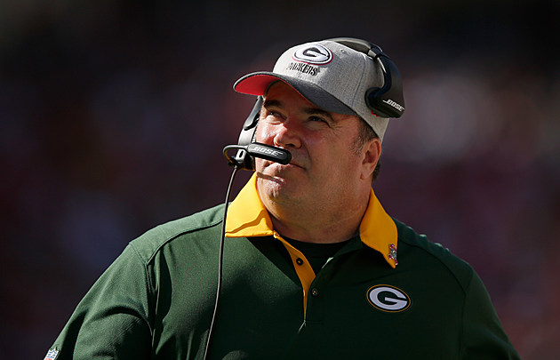 SANTA CLARA, CA - OCTOBER 04:  Head coach Mike McCarthy of the Green Bay Packers stands on the sidelines during their game against the San Francisco 49ers at Levi's Stadium on October 4, 2015 in Santa Clara, California.  (Photo by Ezra Shaw/Getty Images)
