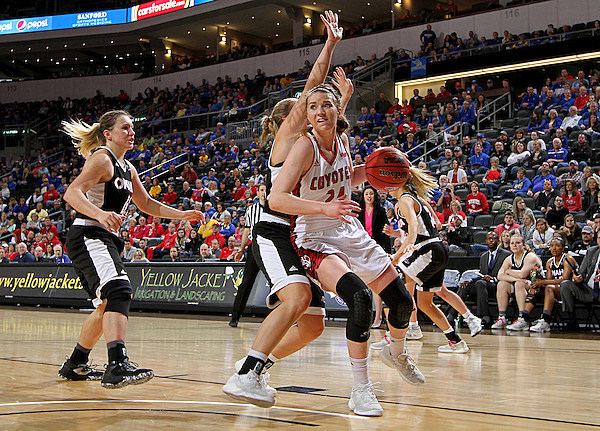 University of South Dakota vs Omaha Summit League Basketball Championship