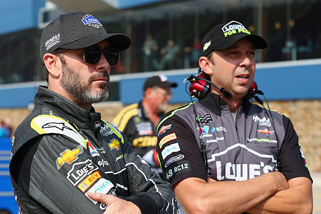 Jimmie Johnson, driver of the #48 Lowe's for Pros Chevrolet
