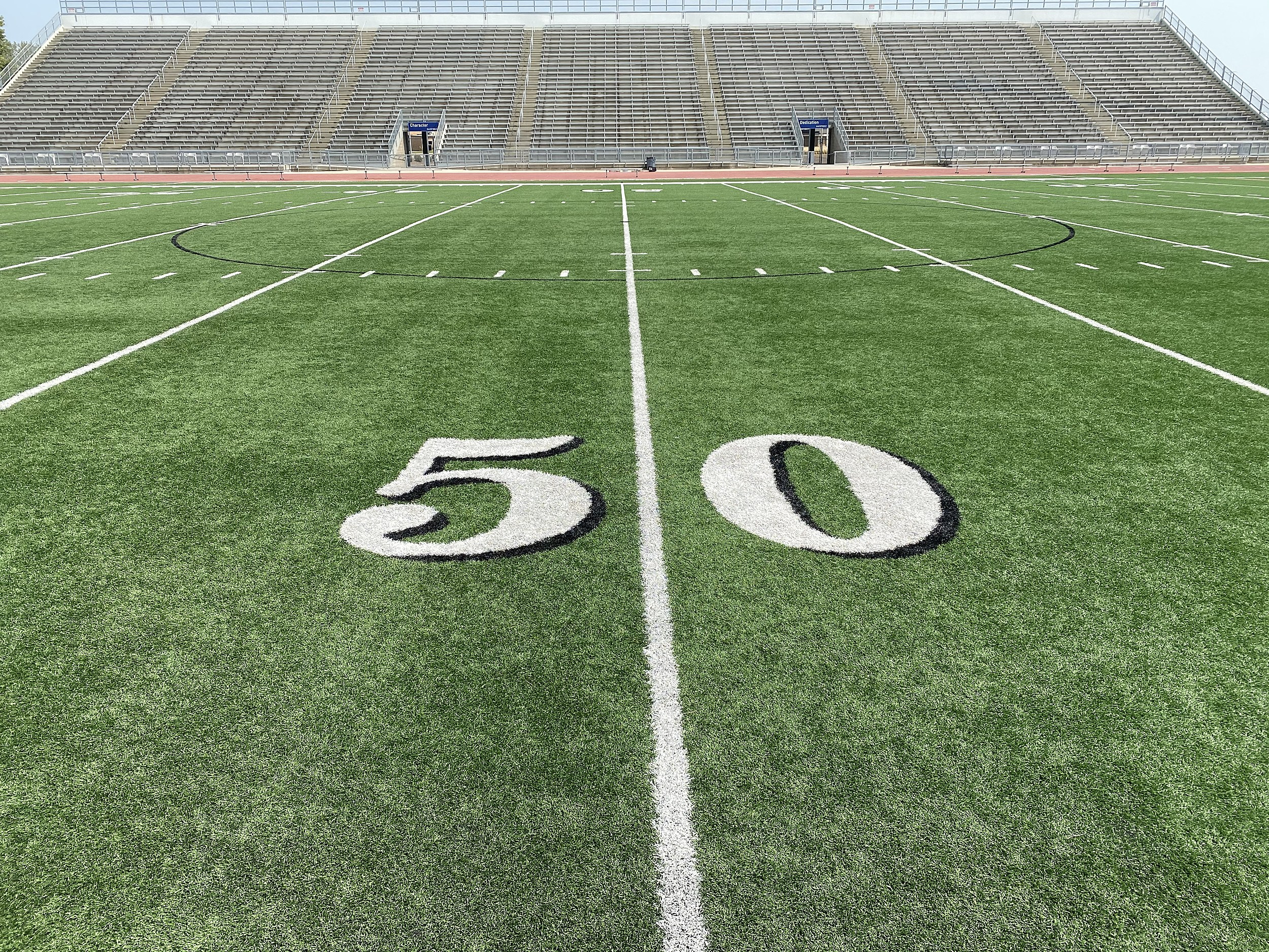 Howard Wood Field 50 Yard Line
